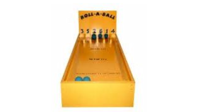 Image of a 6 Ball Roll-Down Carnival Game