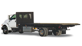 Image of a 24' Flatbed Truck