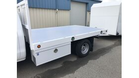 Image of a 12' Flatbed Stake Side Diesel Truck