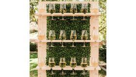 3' x 7' Wood & Greenery Wine/Champagne Wall image