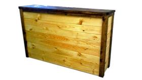 Image of a 4' Pine Bar w/Dark Rails