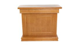 Image of a 4' Walnut Wood Bar