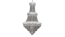"""Image of a 50"""" H x 30""""W Silver French Empire Crystal Chandelier Lighting"""