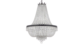 """Image of a 36"""" x 30"""" Dark Antique Finish French Empire Crystal Chandelier Lighting"""