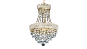 """Image of a 19""""H x 14""""W French Empire Crystal Chandelier Chandeliers Lighting 3 Lights Empire"""