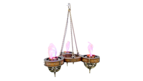 Image of a Flame Light Chandelier - One Tier (3 Lights) Prop