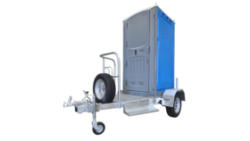 Image of a 1 Stall Basic Portable Restroom Trailer Unit