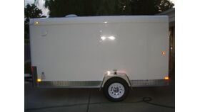 Image of a 6' x 12' x 6'H Enclosed Trailer With Ramp