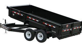 """Image of a 8' x 16' - 8 Yard 83"""" Low Profile Hydraulic Dump Trailer"""