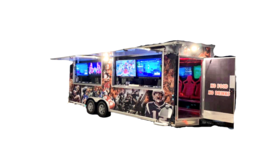Image of a 24' Mobile Gaming Trailer