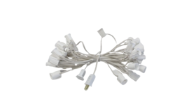 Image of a 25' White String C7 - 7 Watt Clear Incandescent  Bulb String Lights Kit
