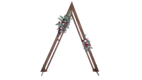 """Image of a Rustic Wood Triangle Arch 85"""""""