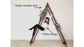 """Image of a Rustic Wood Triangle Arch 105"""""""