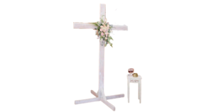 Image of a White Wooden Cross