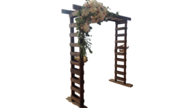 Image of a Rustic Wood Ladder Arch