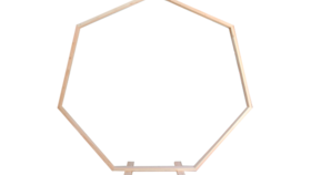 Image of a Wood Heptagon Arch