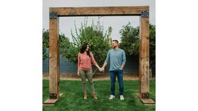 Image of a 10' x 10' Rustic Wood Frame Arch