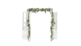 Image of a Double French Wooden Arch