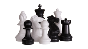 """Image of a 16.5"""" Black Plastic Giant Rook Chess Piece"""