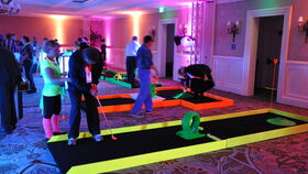 Image of a 9 Hole Neon Mini Golf Game Package