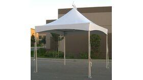 Image of a 10' x 10' x 8'H White Quick Peak Tent