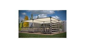 20' x 20' Munro Quad Pergola Kit With 4 Shade Sails For 4x4 Wood Posts image