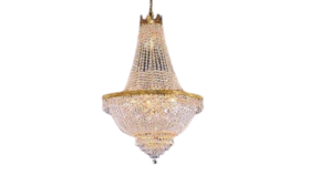 """Image of a 30"""" H x 24""""W Gold French Empire Crystal Chandelier Lighting"""