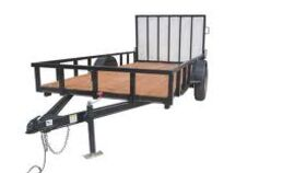 Image of a 6' x 12' Open Utility Trailer