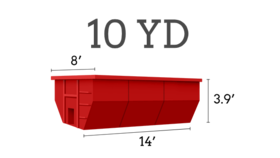 Image of a 10 Cubic Yard Roll Off Dumpster