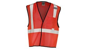 Image of a Red ML Kishigo B120 Series Economy Enhanced Visibility Mesh Identification Vest