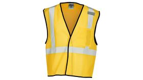 Image of a Yellow ML Kishigo B120 Series Economy Enhanced Visibility Mesh Identification Vest