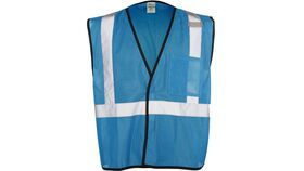 Image of a Light Blue ML Kishigo B120 Series Economy Enhanced Visibility Mesh Identification Vest
