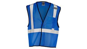Image of a Royal Blue ML Kishigo B120 Series Economy Enhanced Visibility Mesh Identification Vest