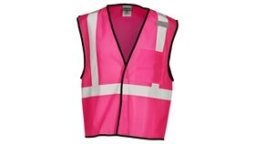 Image of a Pink ML Kishigo B120 Series Economy Enhanced Visibility Mesh Identification Vest