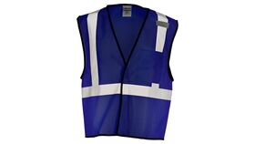 Image of a Navy Blue ML Kishigo B120 Series Economy Enhanced Visibility Mesh Identification Vest