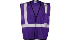 Image of a Purple ML Kishigo B120 Series Economy Enhanced Visibility Mesh Identification Vest
