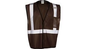 Image of a Brown ML Kishigo B120 Series Economy Enhanced Visibility Mesh Identification Vest