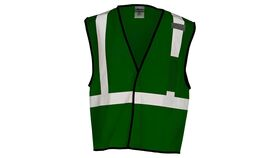Image of a Green ML Kishigo B120 Series Economy Enhanced Visibility Mesh Identification Vest