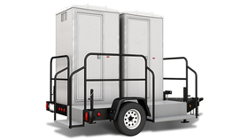 Image of a 4 Stall VIP Restroom Trailer w/AC & Heat