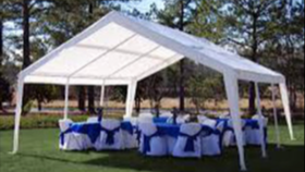 Image of a 20 x 20 Canopy Tent Package