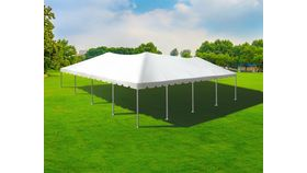 Image of a 40 x 40 frame tent (white top)