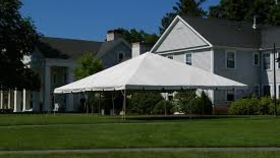 Image of a 30 x 30 white tent
