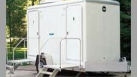Image of a 2 Stall Luxury Portable Restroom