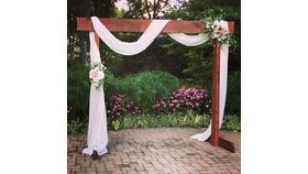 Image of a 3 Piece stained Wood Arch-
