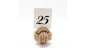 Image of a Table Number Holder - Monkey Knot
