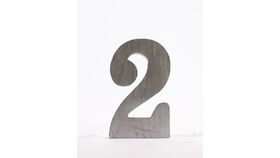 "Image of a Table Number - 4"" Free Standing Silver"