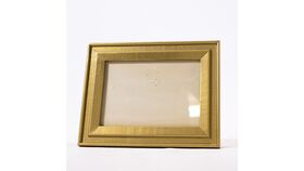 "Image of a Table Number Holder - 6.5""x 5"" Gold Frames"