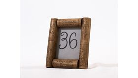 "Image of a Table Number - 3.5"" Cork Frame"