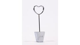 "Image of a Table Number Holder - 4"" ""Love"" Base Heart"