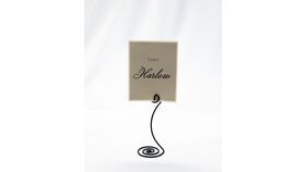 "Image of a Table Number Holder - 5"" Black Curve"